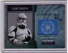 CLONE TROOPER 2016 Topps Star Wars Evolution Galactic Republic Flag Patch # /170