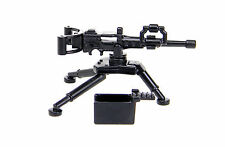 M2 Machine gun (W225) with SM3 tripod .50 compatible with toy brick minifigures