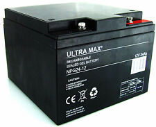 12V 24AH (26AH, 27AH, 28AH) Ultra Max NPG 24-12 GEL Mobility Vehicles Battery