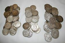 WALKING LIBERTY, FRANKLIN, KENNEDY HALF DOLLARS - LOT OF (3) 90% SILVER BULLION