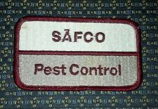 """SAFCO PEST CONTROL Iron or Sew-On Patch 4""""X2.25"""" 1"""