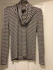 H&M Black And White Cowlneck Women's Top Size S N17b