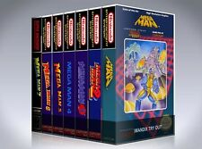 NEW custom game storage cases MEGAMAN 1,2,3,4,5,6,7 1-7 -No Game- Classic SNES