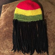 Baby Crochet Rasta Jamaican Hat With Dreadlocks 0-3 Months