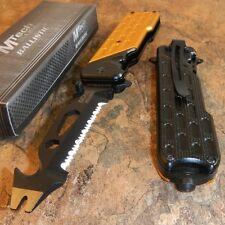 MTECH Spring Assisted BOTTLE OPENER Folding Pocket Knife Multi Tool YELLOW