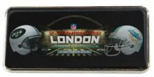 NFL PIN BADGE International series Wembley London  NEW YORK JETS  MIAMI DOLPHINS