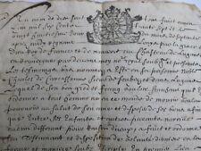 RARE MANUSCRIT 8 pages 1637 LATIN OCCITAN ou VIEUX FRANCAIS