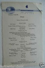 Restaurant Menu For The Trade Winds Hotel Ft. Lauderdale Florida 1948