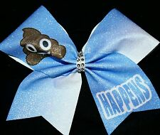 Cheer Bow - (Poop Emoji) Happens - Hair Bows
