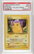 1999 Pokemon Game 58102 Pikachu E3 Stamp Yellow Cheeks PROMO PSA 9
