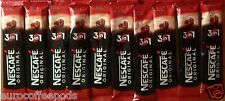 10 x Nescafe Original 3 in 1 Individual 1 Cup Instant Coffee Sachets Sticks