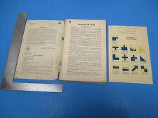 Vintage 1952 Dept Of The Air Force Survival 144-pg Manual w/Signals Card S2423