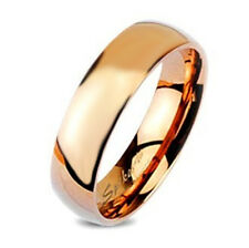 Rose Gold Tungsten Band Ring By Spikes Size 6