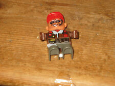 DUPLO LEGO PLAYFIGURE SITS STANDS RAF OFFICER MAN SPARE /REPLACEMENT FOR SETS
