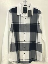 NWT Men's Guess Long Sleeve Shirt Size L Slim Fit