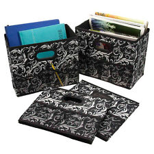 4 Foldable Home Fabric Storage Bins Collapsible Box Containers Organizer Ba