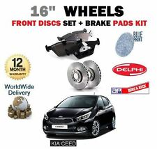 FOR KIA CEED 16'' WHEELS 2012-  NEW FRONT BRAKE DISCS SET + DISC PAD KIT