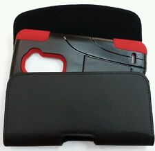 FOR LG Escape 2 XL HOLSTER BELT CLIP POUCH FIT WITH A HYBRID CASE ON PHONE