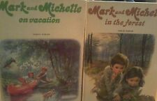Mark and Michelle books-in the Forest & on Vacation-Marcel Marlier Vtg