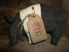 Primitive HOG Folk Art PIG Bowl Filler Ornie Rustic Barnyard Tuck Country  Decor