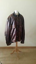 DOLCE & GABBANA D&G men's brown leather jacket coat 46 / 60 l XL