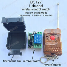 DC 12v 10A 1CH Wireless RF Remote Control Switch  On/off Transmitter Receiver