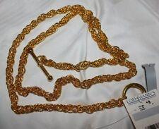 Vintage Loehmann's Goldtone Metal Ladies Chain Belt with Toggle Loop Closure