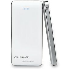 Rhinoshark Power Bank 12000 Mah White ;Portable for Iphone/Samsung/PSP/Ipad