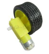 New Arduino Smart Car Robot Plastic Tire Wheel with DC 3-6v Gear Motor for Robot