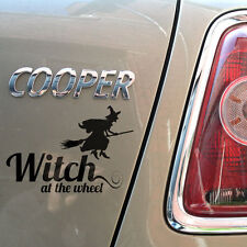 "12"" Witch at the Wheel Gloss Vinyl Car Sticker 