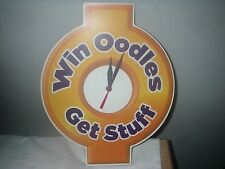 GSN GAME SHOW NETWORK OODLES BATTERY CLOCK NEW
