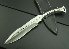 6mm thick - Kukri Style Hunting Combat Knife, Fixed Blade - US Shipped
