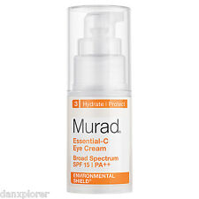 MURAD Essential-C Eye Cream SPF 15, 0.5 fl oz NEW NO BOX FRESH !!!