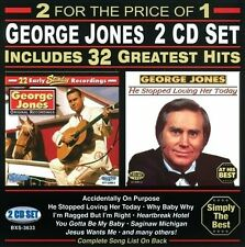JONES,GEORGE-32 GREATEST HITS CD NEW