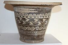 ANCIENT GREEK POTTERY KALATHOS 4th CENTURY BC WINE CUP