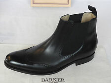 NEW Mens Barkers MTO Black Calf Leather Chelsea Style Pull On Boots UK 7.5 G