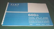 Manuale catalogo parti di ricambio carrozzeria FIAT 600 D