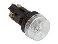 NPL-22 ATI White LED Pilot Indicator Light 22mm 120V AC/DC Replaceable Lamp
