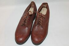 True Vintage 1930's-1940's ATS Real Leather Brown Shoes Childrens, Youths,Ladies