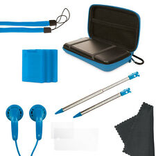 NEW Blue Nintendo Old 3DS 11 in 1 Case Pack Accessory Pack - Stylus, Case, Strap