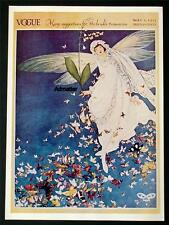 VOGUE FASHION MAGAZINE COVER POSTER MAY 1913 BRIDES TROUSSEAU ART DECO BUTTERFLY
