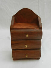 Miniature Hand Made Wooden Chest of Drawers - BNWT