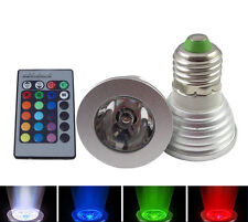 5W E27 Multi-Color Change RGB LED Light Bulb Lamp with Remote controller New