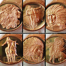 (20) Mixed 1oz Copper American Indian Series Coins Bullion Round Buffalo Head 10