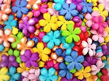 50 Mixed Colorful Color Flowers mulberry paper for Craft & D.I.Y #07