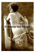 rp17544 - Semi Nude young woman kneeling on a chair - photo 6x4