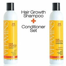 Vitamins Hair Growth Support Shampoo + Conditioner Set 10 oz by Nourish Beaute