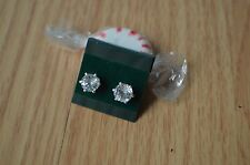2.13ct Ice BlueGreen Oligoclase Solitaire Earrings 6 prong Sterling Silver VS