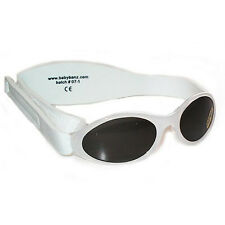 Kids Sunglasses Boys Children Protection Shades Kidz Banz White Retro 2-5yrs