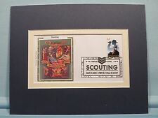 Boy Scouts & First Day Cover of the stamp issued for its 100th Anniversary